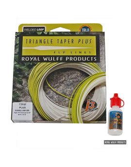Royal Wulff Triangle Taper Plus + GHERKE Fliegenschnurreiniger