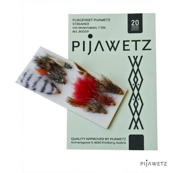 Pijawetz Fliegenset Streamer mit Widerhaken