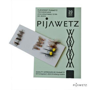 PIJAWETZ fly set dry fly barbless